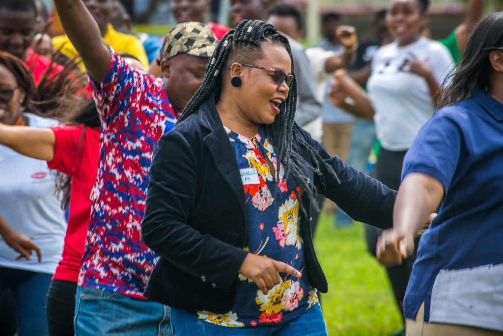 Dancing at a fun event courtesy of Ultra Events Kenya